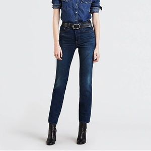 Levi's Wedgie Fit Jeans Dark Wash 27 Regular NWT